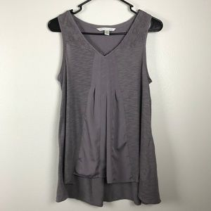 3/$20 LC Lauren Conrad Lace Trim High Low Tank